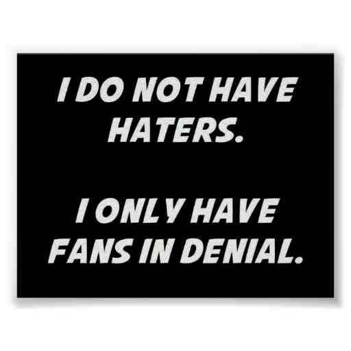 fans in denial