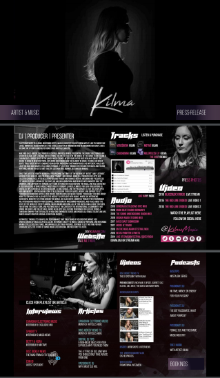 DJ Kilma Electronic Press Kit EPK